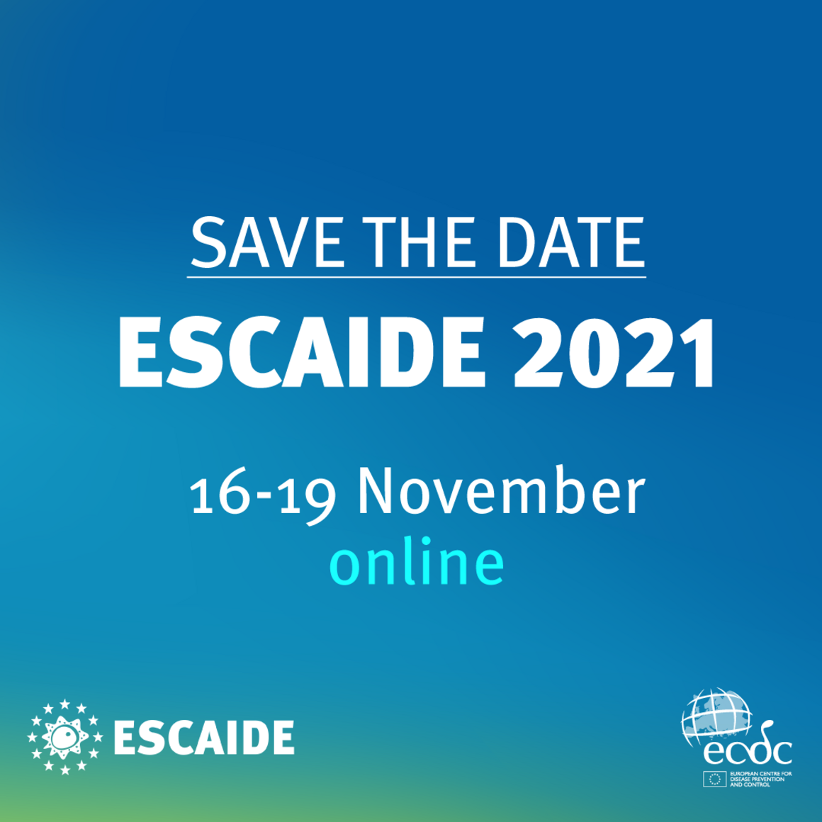 ESCAIDE 2021 Save the date